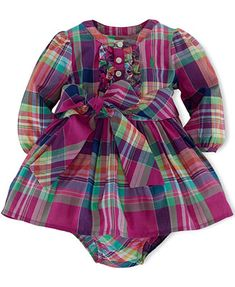 Ralph Lauren Baby Girls' Plaid Dress - I really wish this wasn't sold out! Would…