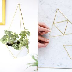 DIY, fabriquer une suspension de plante en laiton : fabriquez une suspension de plante en laiton - Elle Décoration