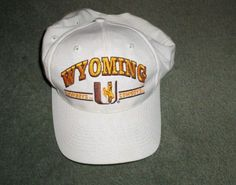 Men's Brown, Gold & White WYOMING COWBOYS NCAA Embroidered Hat, Snap Strap, GUC #LogoAthleticNCAAMerchandise #UniversityofWyomingCowboys