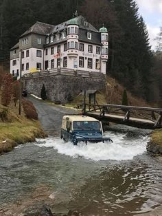 Only Land Rover Can Leave The Bridge and Cross The River Safely