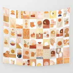 Buy Boho wall collage Wall Tapestry by Whales Way. Worldwide shipping available at Society6.com. Just one of millions of high quality products available. Orange Home Decor, Orange House, Burnt Orange Color, Society 6 Tapestry, Whales, Wall Collage, House Colors, Wall Tapestry