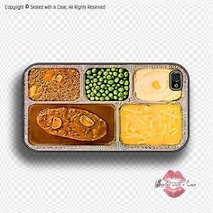 TV Dinner  iPhone 4 Case iPhone 4s Case and by SealedWithaCase, $17.99