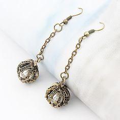 vrouwen vintage kroon parel oorbellen E57 – EUR € 0.98