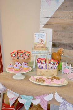 Charlotte's Web themed birthday party with Such CUTE IDEAS via Kara's Party Ideas KarasPartyIdeas.com Invitation, cake, dessert, games, printables and more! (2)