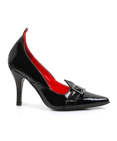 Look at this Ellie Shoes Black Patent Witchy Pump on #zulily today!