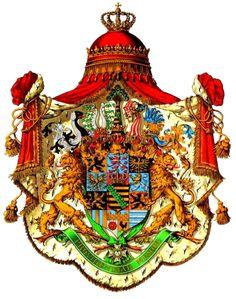 Coat of arms of Wettin House Albert Line - Reino de Sajonia - El reino de Sajonia, existió entre 1806 y 1918, fue miembro independiente de la Confederación del Rin y, por último, uno de los 25 estados del Imperio alemán, como resultado de la derrota de Alemania en la Primera Guerra Mundial, Federico Augusto III de Sajonia abdica y desaparece como Estado en 1918 a consecuencia del Tratado de Versalles, pasando su territorio a formar parte de la República de Weimar.
