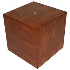 Cube Table by Poul Norreklit   From a unique collection of antique and modern pedestals at http://www.1stdibs.com/furniture/tables/pedestals/