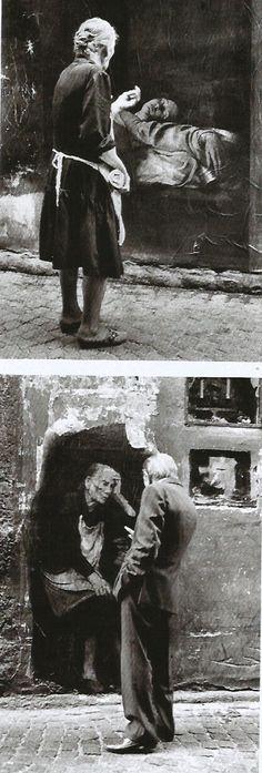 Ernest Pignon Ernest, Naples 1995 Antonieta Tag Street Art, Urban Street Art, Murals Street Art, Urban Art, Naples, Graffiti, Oil Portrait, Revenant, Figure Painting