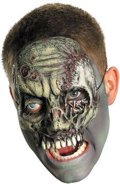 costume mask: chinless walking zombie mask Case of 2
