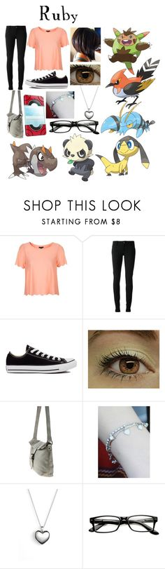 """""""Pokemon XY (Oc)"""" by doodlebob3 ❤ liked on Polyvore featuring Topshop, Gucci, Converse, kitsch island and Pandora"""
