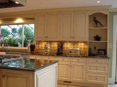 Kitchen Remodel, Shoreline, WA - traditional - kitchen - seattle - Shuler Architecture. Love cabinets with backsplash.