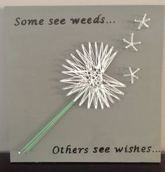A personal favorite from my Etsy shop https://www.etsy.com/listing/545140603/dandelion-wishes-string-art