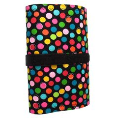 Cable wrap case in various designs with 8 detachable velcro clips and a small detachable pouch. On sale @ http://curiouscatch.com