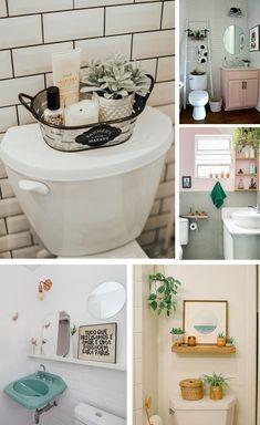 ideas de decoración para baños One Bedroom Apartment, Small Room Bedroom, Bathroom Inspiration, Home Decor Inspiration, Outside Room, Cute House, Apartment Interior Design, House Rooms, Decoration