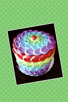 Arco iris #bake #cake #chef #baker #aprendiendoydisfrutando