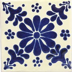 12 4 x 4 Talavera Handpainted Mexican Tiles. Please Note: Your item is custom made for you by an Artisan in Mexico. Your item will ship in less than 10 days. Fedex Domestic Shipping with Door to door tracking from Texas. Terra Nova, Mexican Ceramics, Art Populaire, Spanish Tile, Ceramic Techniques, Clay Tiles, Decorative Tile, Tile Art, Tile Patterns