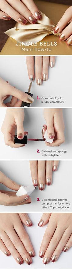 Red and Gold Ombre Nail Art Tutorial with Julep // Find soiree-ready nail gift sets at julep.com in gift-ready winter white packaging. A perfect stocking stuffer for the leading ladies of your life. Available through 12/25/15.