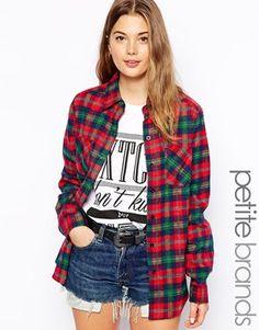 df0f9d56da Glamorous Petite Check Shirt at asos.com