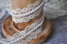 ivory beaded pearl lace trim