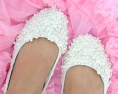 Wedding Ballet flats on Etsy, $147.92 CAD  Thinking about these for my wedding shoes.