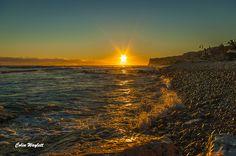 Sol,viento y frio en Las Rotas esta mañana Sun, wind and cold in Las Rotas this morning 13-1-15