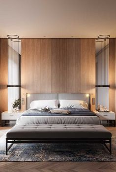 Modern Bedroom Ideas - Seeking the very best bedroom decor ideas? Use these stunning modern bedroom ideas as motivation for your own remarkable designing system . Modern Bedroom Design, Contemporary Interior Design, Master Bedroom Design, Contemporary Bedroom, Home Decor Bedroom, Home Interior Design, Bedroom Ideas, Bedroom Designs, Bedroom Bed