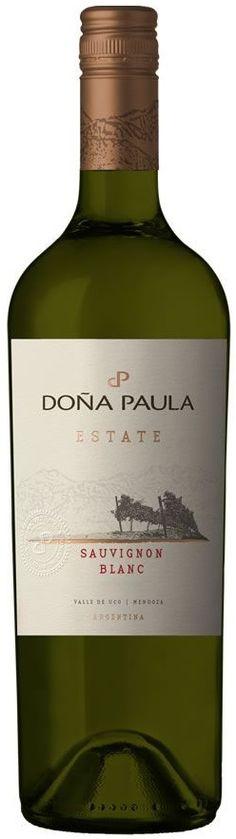 """""""Doña Paula Estate"""" Sauvignon blanc 2013 / 2015 - Bodega Doña Paula, Luján de Cuyo, Mendoza------------------ Terroir: Gualtallary (Tupungato)------------------------------ Sin paso por madera"""