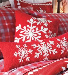 Snowflake pillows...