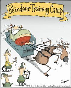 The Flying McCoys by Glenn and Gary McCoy  ~ Christmas Humor ~ Santa's Reindeer