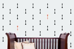 Vinyl Wall Decal, Tribal Arrows, Repeating Pattern, Art Sticker on Etsy, $22.00