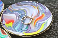 The Surznick Common Room: Marbled Clay Dishes