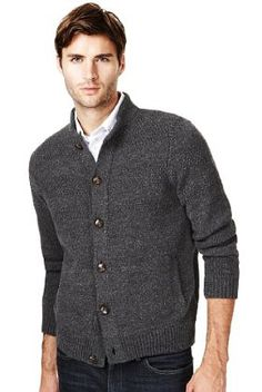 Blue Harbour Heritage Pure Cotton Stitch Knitted Cardigan - Marks & Spencer