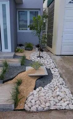 Gravel Landscaping, Gravel Garden, Landscaping With Rocks, Landscaping Ideas, Backyard Ideas, Mailbox Landscaping, Pool Ideas, Acreage Landscaping, Indoor Garden