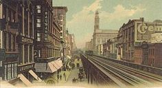 NYC - The 6th Avenue El 1905 [elevated train]