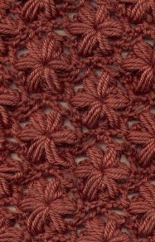 Crochet flower stitch