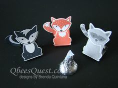 Qbee's Quest: Foxy Friends Hershey's Kiss Tents