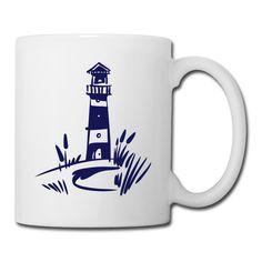 Leuchtturm klassisch #Leuchtturm_Tasse #Leuchtturm Symbol der Freiheit und Weite,Wegweiser,Orientierung,Sehnsucht,Nostalgie,Träume,Meer,See,Ferne,sichere Heimkehr,Seemotiv, Wegweiser im Sturm,Kommunikation #Leuchtturm_Tassen