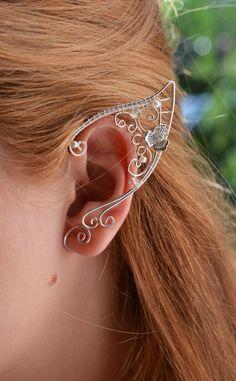 For an elf costume??? :-) Elf ears Ear Cuffs by BeautyCreek on Etsy, $29.99