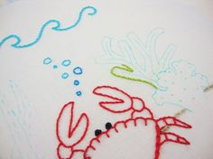 sea embroidery pattern