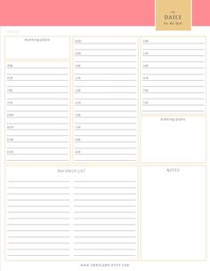 Plan Your Daily Schedule In 15 Minute Intervals Using This Printable Day Planner Free To And Print Kitchen