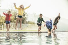Splash into summer in the Fay Junior bomber jacket for boys and girls.