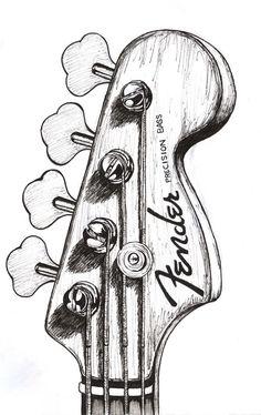 voor bass guitar drawingAfbeeldingsresultaat voor bass guitar drawing just for tattoo art to my tattoo famly Hendrix Fender guitar painting OOAK cover Art Original by Drawings Music Drawings, Pencil Art Drawings, Art Drawings Sketches, Cool Drawings, Sketch Drawing, Art Inspo, Kunst Inspo, Guitar Drawing, Guitar Art