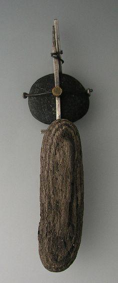 driftwood + pebble art
