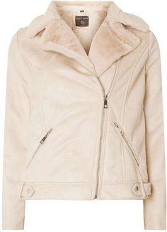 Blush Short Faux Shearling Jacket