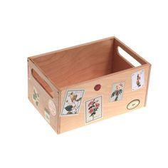 Miniature Wooden Storage Box – Floral Theme