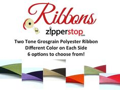 7/8 Two Tone GROSGRAIN Polyester Ribbon  6 by RibbonsByZipperstop, $4.99 Wholesale Ribbon, Grosgrain, Different Colors, Hair Bows, Crafts, Etsy, Ribbon Hair Ties, Manualidades, Hairbows