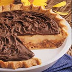 Creamy Candy Bar Pie Recipe -Here's a very rich and creamy pie that tastes terrific. A small sliver is all most folks can handle.