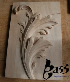 Image result for wood carving acanthus