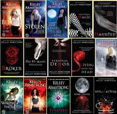 Women of the Otherworld by Kelly Armstrong A 13 book series....one of my favorite authors and series.