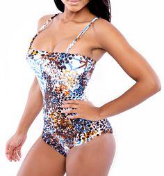 Women-Spandex-Multicolor-Camisole-Jumpsuit-Sexy-Bra-Swimsuit-Bikini-Set